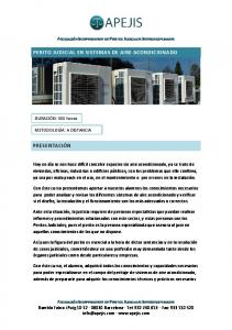PERITO JUDICIAL EN SISTEMAS DE AIRE ACONDICIONADO