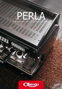 PERLA ESPRESSO AND CAPPUCCINO COFFEE MACHINE ESPRESSO AND CAPPUCCINO COFFEE MACHINE