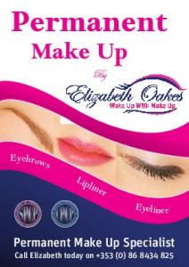 Permanent. Elizabeth Oakes. Make Up By. Permanent Make Up Specialist. Permanent Make Up Technician. Call Elizabeth today on +353 (0)