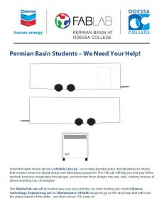 Permian Basin Students We Need Your Help!