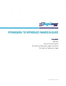 PERMISSION TO REPRODUCE IMAGES & GUIDE