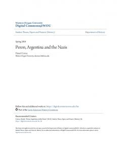 Peron, Argentina and the Nazis