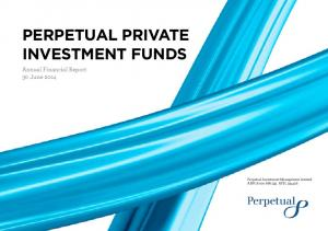 PERPETUAL PRIVATE INVESTMENT FUNDS