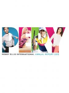 PERRY ELLIS INTERNATIONAL IS ONE OF THE WORLD S LEADING DIVERSIFIED BRAND LIFESTYLE APPAREL COMPANIES