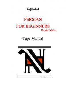 PERSIAN FOR BEGINNERS