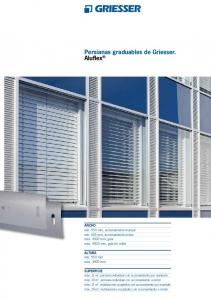 Persianas graduables de Griesser. Aluflex