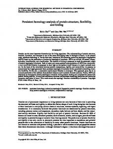 Persistent homology analysis of protein structure, flexibility, and folding