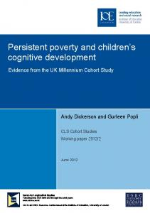 Persistent poverty and children s cognitive development