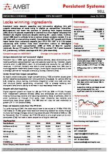 Persistent Systems SELL