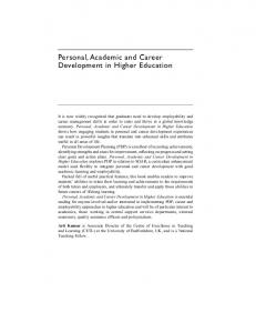Personal, Academic and Career Development in Higher Education