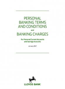 PERSONAL BANKING TERMS AND CONDITIONS