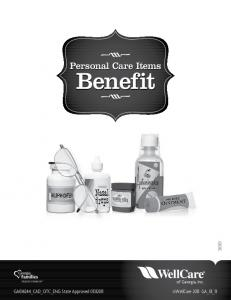 Personal Care Items. Benefit. Benefit