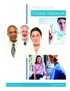 Personal. Choice Network. Manual