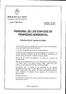 PERSONAL DE LOS EDIFICIOS DE PROPIEDAD HORIZONTAL