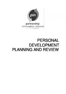 PERSONAL DEVELOPMENT PLANNING AND REVIEW