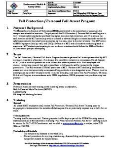 Personal Fall Arrest Program