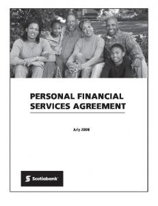 PERSONAL FINANCIAL SERVICES AGREEMENT