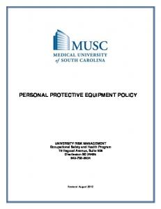 PERSONAL PROTECTIVE EQUIPMENT POLICY