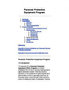 Personal Protective Equipment Program