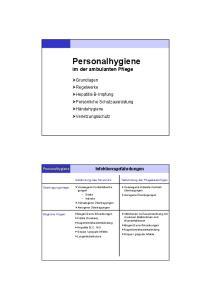 Personalhygiene im der ambulanten Pflege