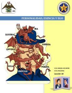 PERSONALIDAD, ESENCIA Y EGO