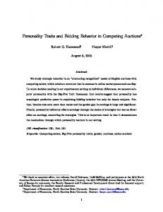 Personality Traits and Bidding Behavior in Competing Auctions