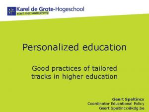 Personalized education