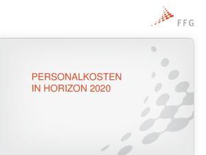 PERSONALKOSTEN IN HORIZON 2020
