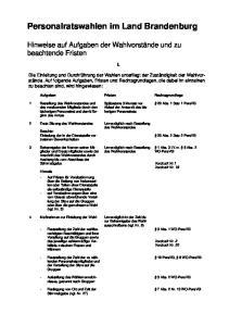 Personalratswahlen im Land Brandenburg