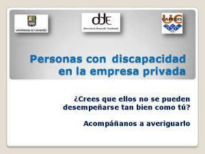 Personas con discapacidad en la empresa privada
