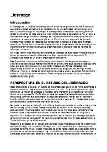 PERSPECTIVAS EN EL ESTUDIO DEL LIDERAZGO
