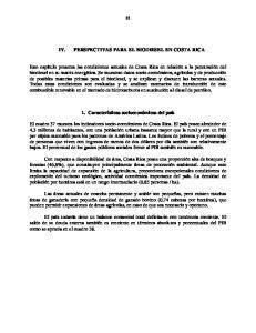PERSPECTIVAS PARA EL BIODIESEL EN COSTA RICA