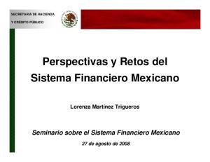Perspectivas y Retos del Sistema Financiero Mexicano