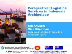 Perspective: Logistics Services in Indonesia Archipelago