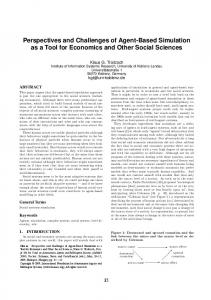 Perspectives and Challenges of Agent-Based Simulation as a Tool for Economics and Other Social Sciences
