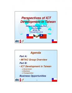 Perspectives of ICT Development in Taiwan