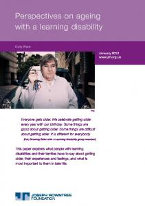 Perspectives on ageing with a learning disability