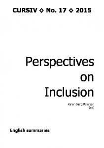 Perspectives on Inclusion