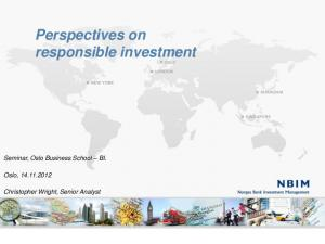 Perspectives on responsible investment
