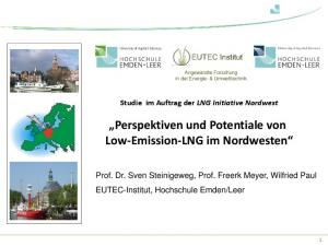 Perspektiven und Potentiale von Low-Emission-LNG im Nordwesten
