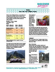 PERU Inca Trail Trek to Machu Picchu