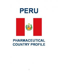 PERU PHARMACEUTICAL COUNTRY PROFILE