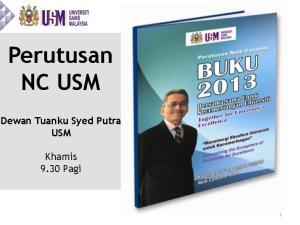 Perutusan NC USM Dewan Tuanku Syed Putra USM