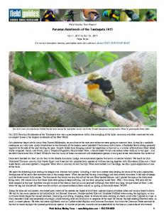 Peruvian Rainforests of the Tambopata 2015