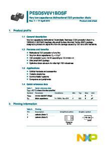 PESD5V0V1BDSF. Very low capacitance bidirectional ESD protection diode