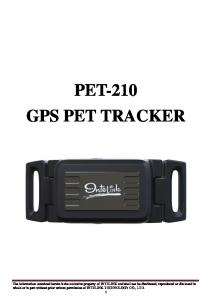 PET-210 GPS PET TRACKER