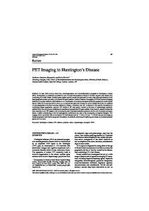 PET Imaging in Huntington s Disease
