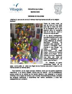 PETATITO CULTURAL MARZO 2016 VIERNES DE DOLORES