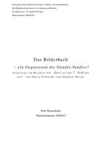 Peter Rinnerthaler Matrikelnummer: