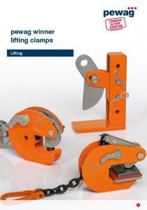 pewag winner lifting clamps Lifting